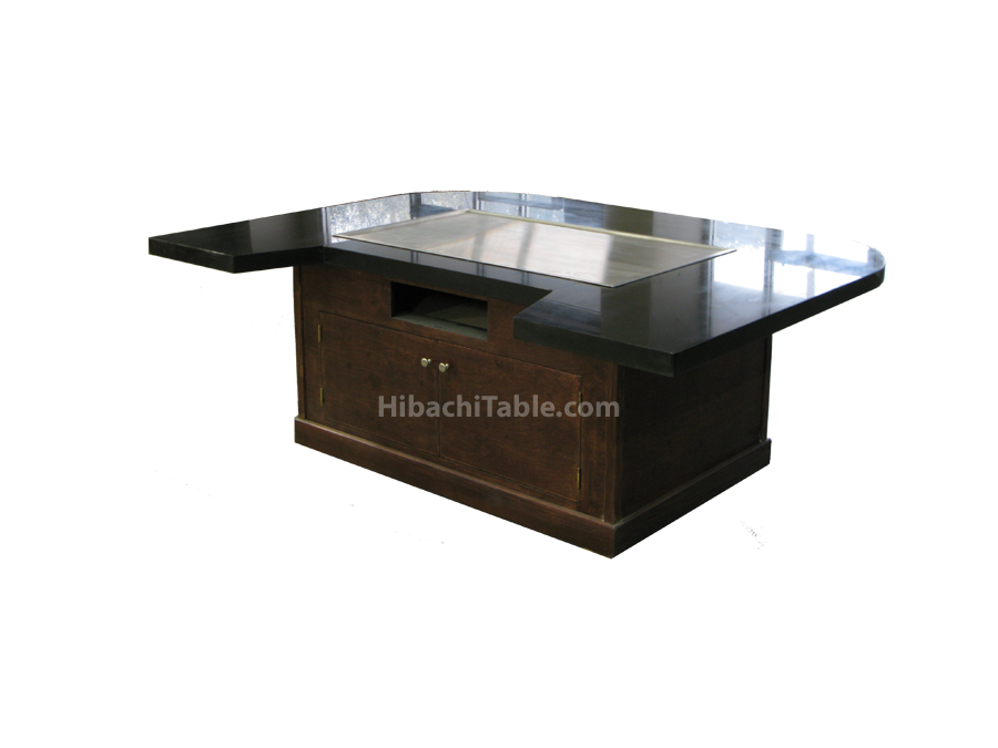 TE 10 Back View Hibachi Table Teppanyaki