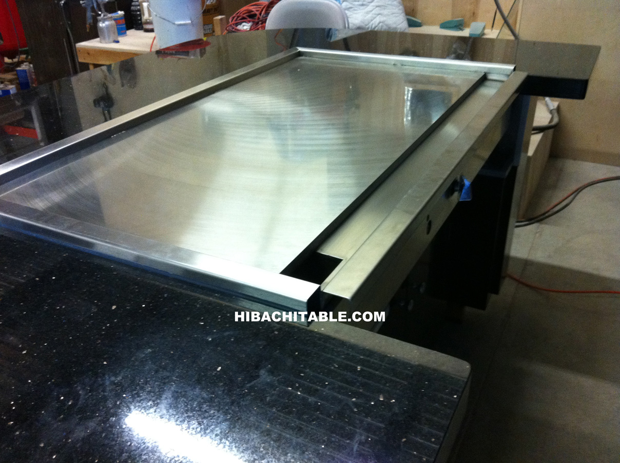 TG Black Hibachi Table Teppanyaki Table Teppan Table Sushi - Teppan table